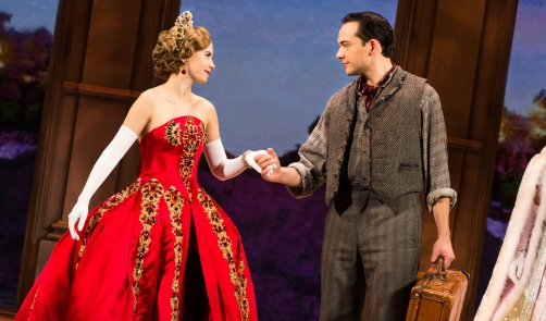 9 - Lila Coogan (Anya) and Stephen Brower (Dmitry) in the National Tour of ANASTASIA. Photo by Evan Zimmerman, MurphyMade.